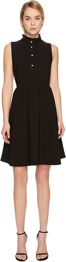 Kate Spade New York - Ruffle Front Crepe Dress