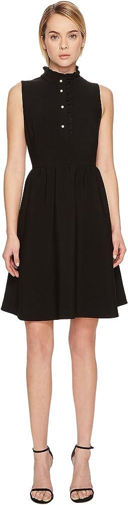 Kate Spade New York - Ruffle Front Crepe Dress