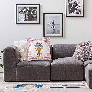 Bedsure Funda Cojin 45 x 45cmBautismo, diseño de mi Primera comunión Chica sentada en la Copa Dorada Nube Esperanza Creencia SFunda de Almohada Cuadrada para Sofá, Dormitorio y Sala de Estar