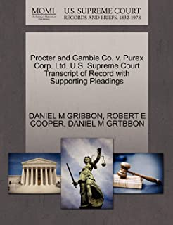 Procter and Gamble Co. V. Purex Corp. Lt