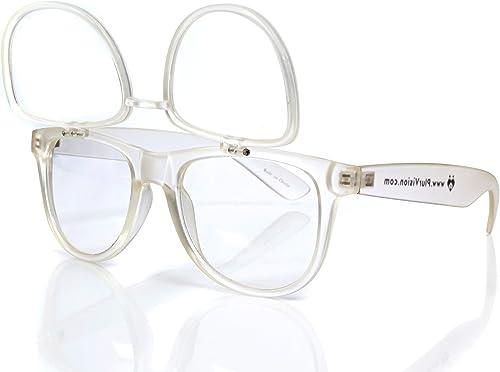 2021 Premium Clear Glasses with Diffraction Flip Lenses high quality - Ideal outlet sale for Festivals, Lights, Raves, Etc. outlet sale