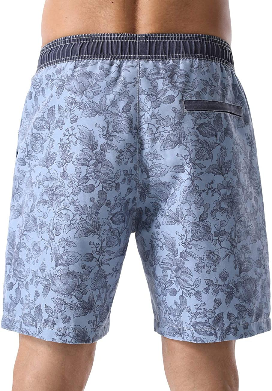 Nonwe/Mens/Swim/Trunks/Retro/Quick Dry Soft/Washed//Full Liner Casual/Shorts