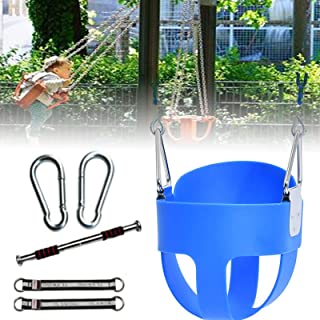 GBHJJ Barngunga Indoor, barngunga utomhus, säker med 110 cm kedja och två karbinhakar – gunga set tillbehör, blå