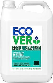 Ecover Waschmittel Universal Hibiskus & Jasmin 5 L/100 Waschladungen, Flüssigwaschmittel mit pflanzenbasierten Inhaltsstoffen, Vollwaschmittel für Erhalt und Schutz der Kleidung