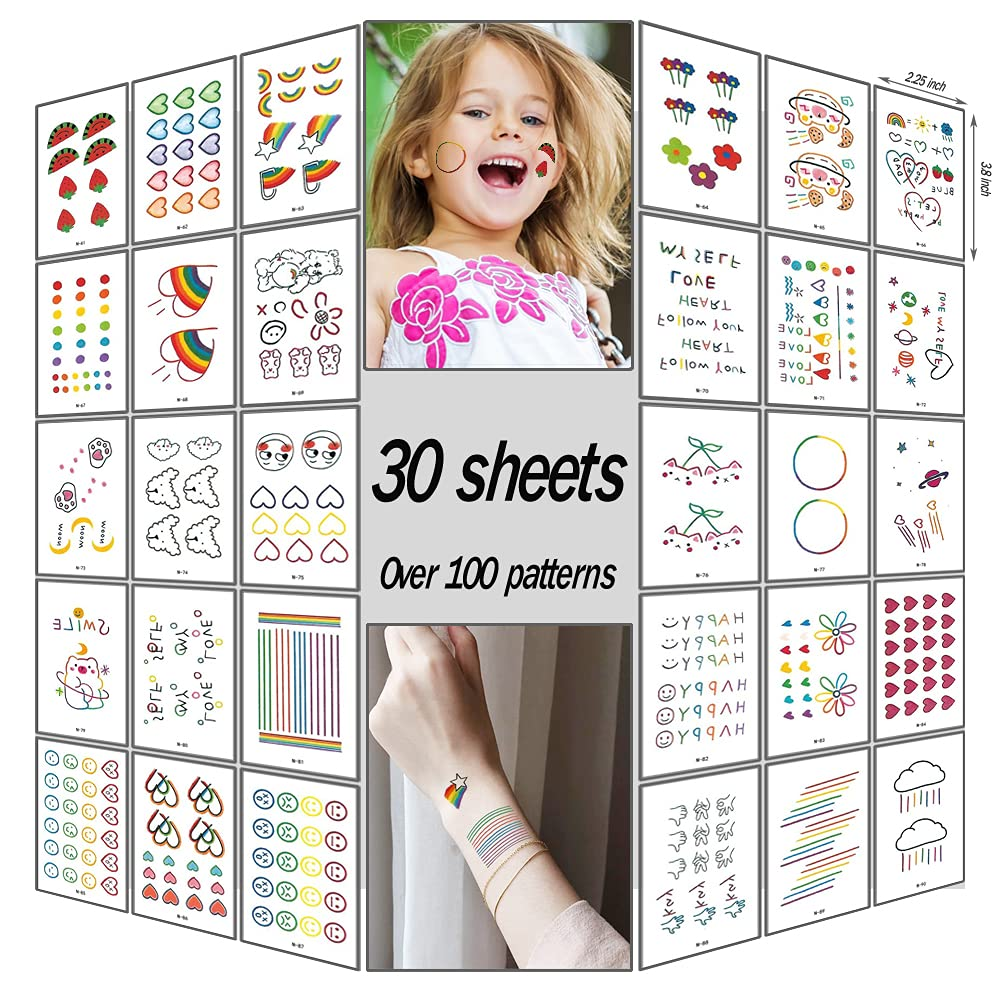 30 Sheets Real Selling and selling Looking Temporary New item 100 Stickers Over Patte Tattoos