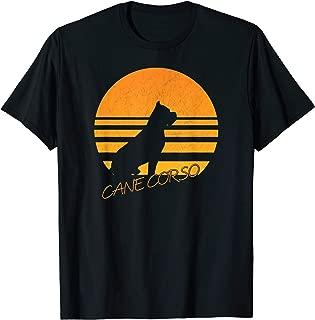 Vintage Retro Cane Corso Silhouette Sun Dog Lover T-shirt