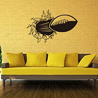 Home Wing 3D Football Wall Stickers Removable Vinyl Wall Art Break The Wall Sport Wall Decals for Kid's Room Nursery Living Room Bedroom Office,16.9 x 25.2 Inch