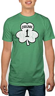 St. Paddy's Day Drunk 1 & Drunk 2 Men's Green T-Shirts