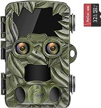 COOLIFE Wildcamera Dual Camera's 4K 20MP Aftrekafstand tot 25 m wildcamera met bewegingsmelder nachtzicht 0,1s snelle trig...
