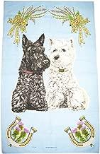 Glen Appin 100% Cotton Tea/Dish Towel - Black & White Scotty Dog