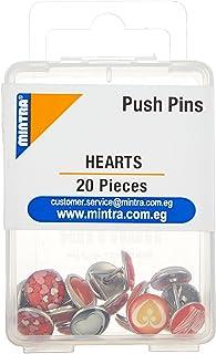 Mintra Push Pins, 20 Pieces - Multi Color