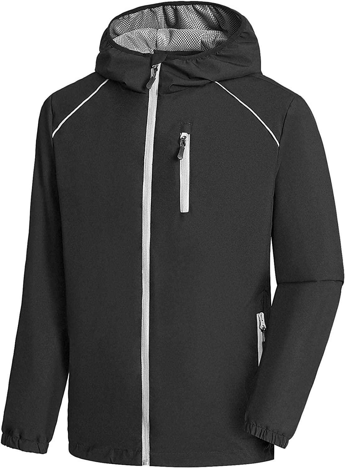 Men's Waterproof Cycling Bike Jacket Oklahoma City Mall Jac Rain with Running Hood Safety and trust
