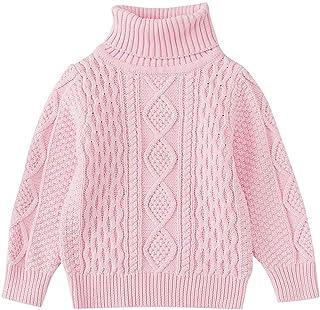 K-youth Suéter de Cuello Alto de Punto para Niños Niñas Chicas Chicos Ropa Bebé Niña Invierno Ropa De Punto Camiseta de Ma...