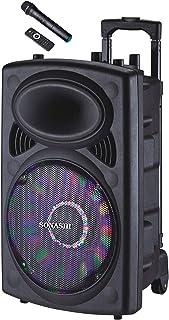 Sonashi 12 Inch Rechargeable Trolley Speaker Black SPS-7812RT