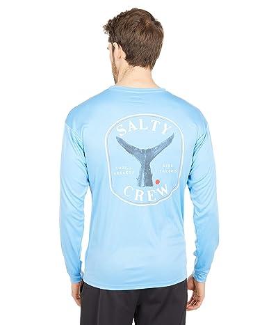 Salty Crew Fishstone Long Sleeve Rashguard (Columbia Blue) Men