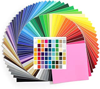 61-12 Inch x 12 Inch Sheets of Genuine Oracal 651 Glossy Permanent Vinyl Every Color - with Swatch Guide