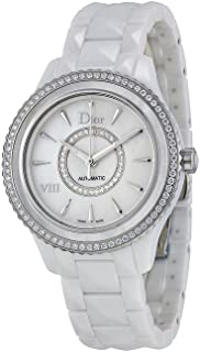 VIII White Mother of Pearl Dial Ceramic Ladies Watch CD1245E9C001