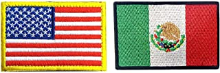 US Flag Mexican Flag Patch, Antrix 2 Pack Military Tactical Morale American Flag Mexico Flag Patches