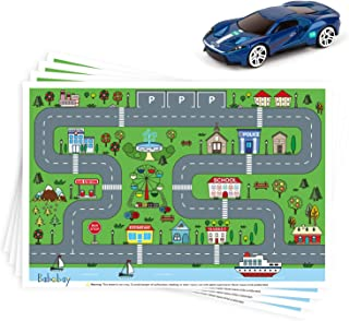 Disposable Stick-on Placemats 40 Pack for Baby & Kids, Restaurant Table Topper Mat Disposable, Toddler Placemats with Car ...