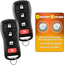 Discount Keyless Key Fob Keyless Entry Car Remote Control For Nissan Infiniti KBRASTU15, CWTWB1U733 (2 Pack)