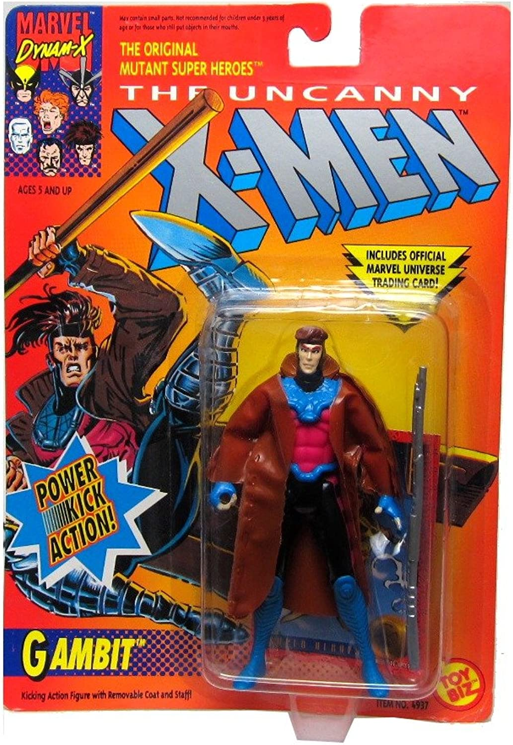 Toy Biz The Uncanny XMen Gambit Power Kick Action Figure