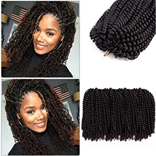 4 Pack Spring Twist Crochet Braids Bomb Twist Crochet Hair Ombre Colors Synthetic Braiding Hair Extensions 8inch 110g(1b/33#)