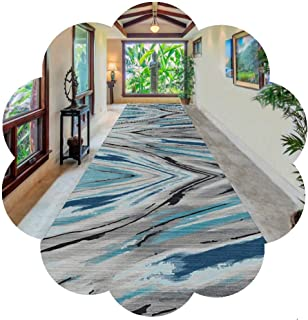 HAIPENG Very Long Hallway Runner Rug, Non Slip Entrance Mat, Abstract Carpet Perfect for Entryway Kitchen Hall Staircase- ...