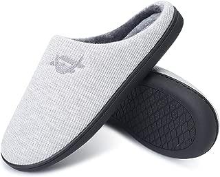 Men's Comfort Memory Foam Slippers Warm Indoor Outdoor House Shoes