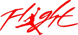 Flight Jordan Jumpman Logo Huge 23 AIR Decal Sticker for Automobile Room Car Window Tablet PC Computer Wall Laptop Notebook Ipad (5.5