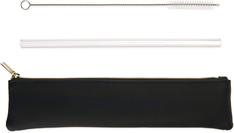 Blush Radiance Manufacturer regenerated product Glass Credence Straw One Black size Set