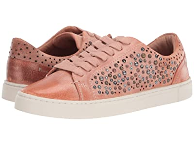 Frye Ivy Deco Stud Low Lace (Pale Blush Waxed Vintage Suede) Women