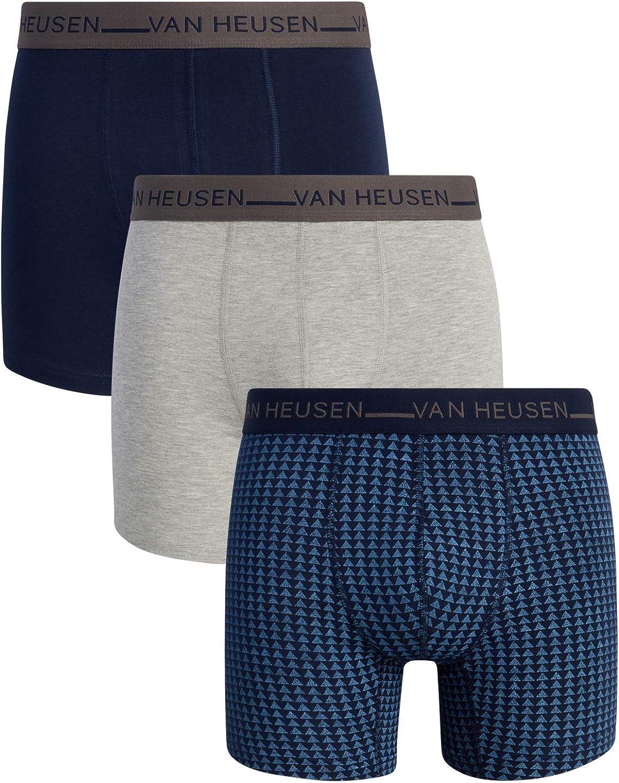 Van Heusen Men's Underwear - Cotton Stretch Boxer Briefs with Contour Pouch (3 Pack)