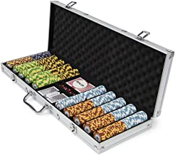 500-count Monte Carlo Poker Chips with Aluminum Case, 14 Gram, 3-Tone Chips | Includes 2 Decks of Cards & Dealer Button | Poker Sets with Case for Poker, Texas Hold 'em, Gambling & Casino Games