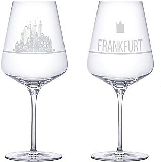 I LOVE Frankfurt Weingläser 2er Set | Weinglas mit Gravur d