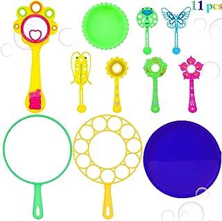 11PCS Kids Bubble Wand Set Creative Bubble Wand Bulk Bubble Toy for Summer Party