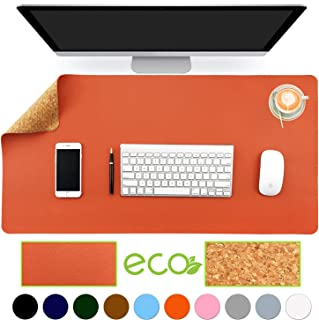 """Aothia Eco-Friendly Natural Cork & Leather Double-Sided Office Desk Mat 31.5"""" x.."""