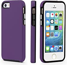 iPhone 5/5s/SE Case, CellEver Dual Guard Protective Shock-Absorbing Scratch-Resistant Rugged Drop Protection Cover for iPhone 5/5S/SE (Mint) Purple 43220-37486