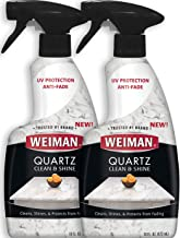 Weiman Quartz Countertop Cleaner and Polish (2 Pack) Clean and Shine Your Quartz Countertops Islands and Stone Surfaces with Ultra Violet Protection