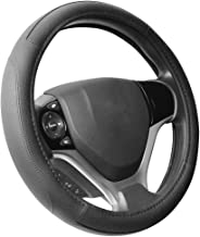 SEG Direct Black Microfiber Leather Steering Wheel Cover for Prius Civic 14