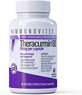 Theracurmin BID ((True)) 90mg per Capsule. Now w/ Ginger & Bioperine (60ct Bottle)