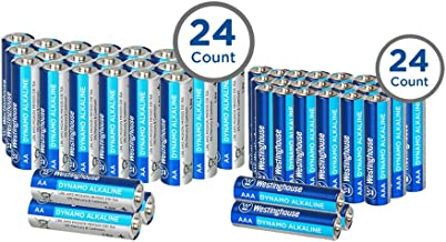 Westinghouse Alkaline AA+AAA Batteries (Size AA+AAA, 48-Pack), Leak-Proof & Long-Lasting Technology Double A + Triple A Primary Batteries with Lasting Power for High Drain Devices (Non-Rechargeable)