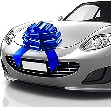 Zoe Deco Big Car Bow (Blue, 18 inch) Gift Bows, Giant Bow for Car, Birthday Bow, Huge Car Bow, Car Bows, Big Blue Bow, Bow...