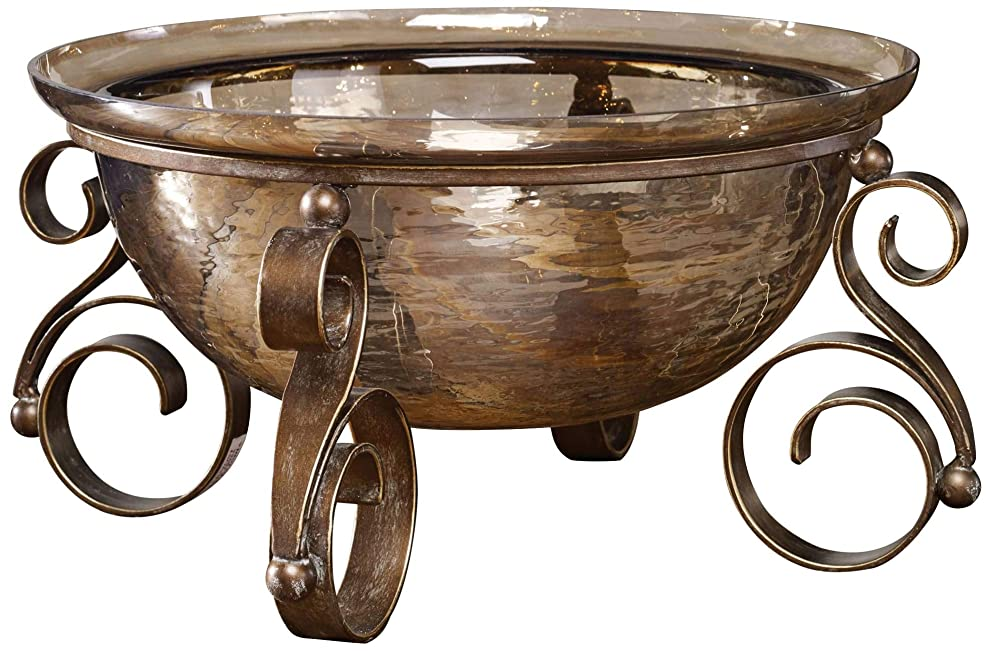 Uttermost Alya Copper Bronze Luster Glass Bowl