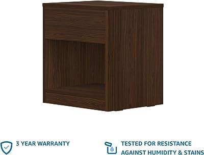 Amazon Brand - Solimo Neptune Engineered Wood Bedside Table (Walnut Finish)