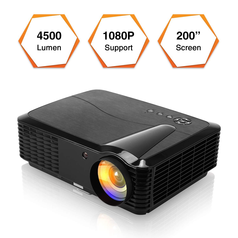 4500 lúmenes LCD Digital LED HDMI HD Proyector de Videojuegos Soporte 1080P AV VGA USB HDMI