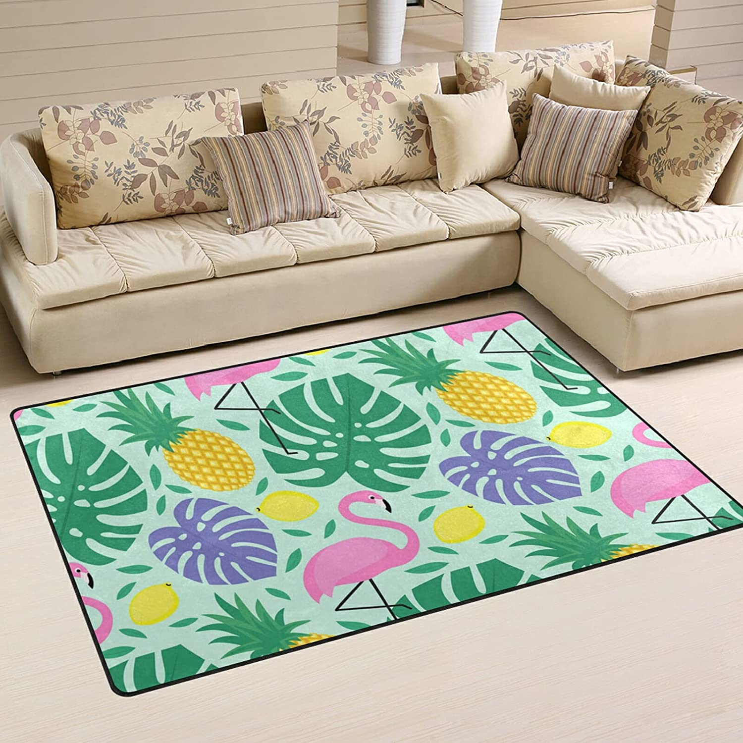 Flamingo Quantity limited Pineapple Cheap super special price Lemons Large Soft Playmat Area Nursery Rugs R