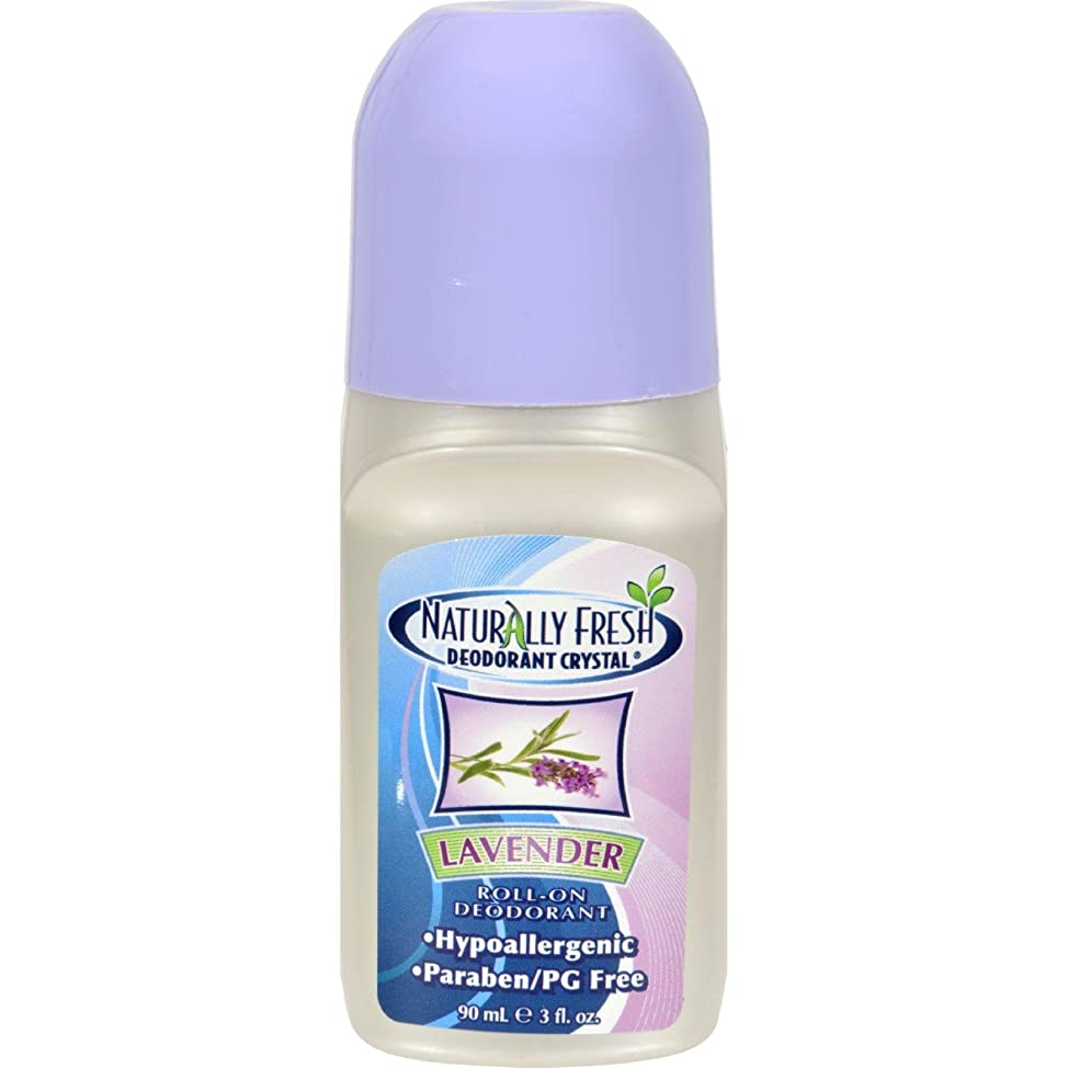 Naturally Fresh Deodorant Crystal Roll-On Deodorant, Lavender - 3 oz