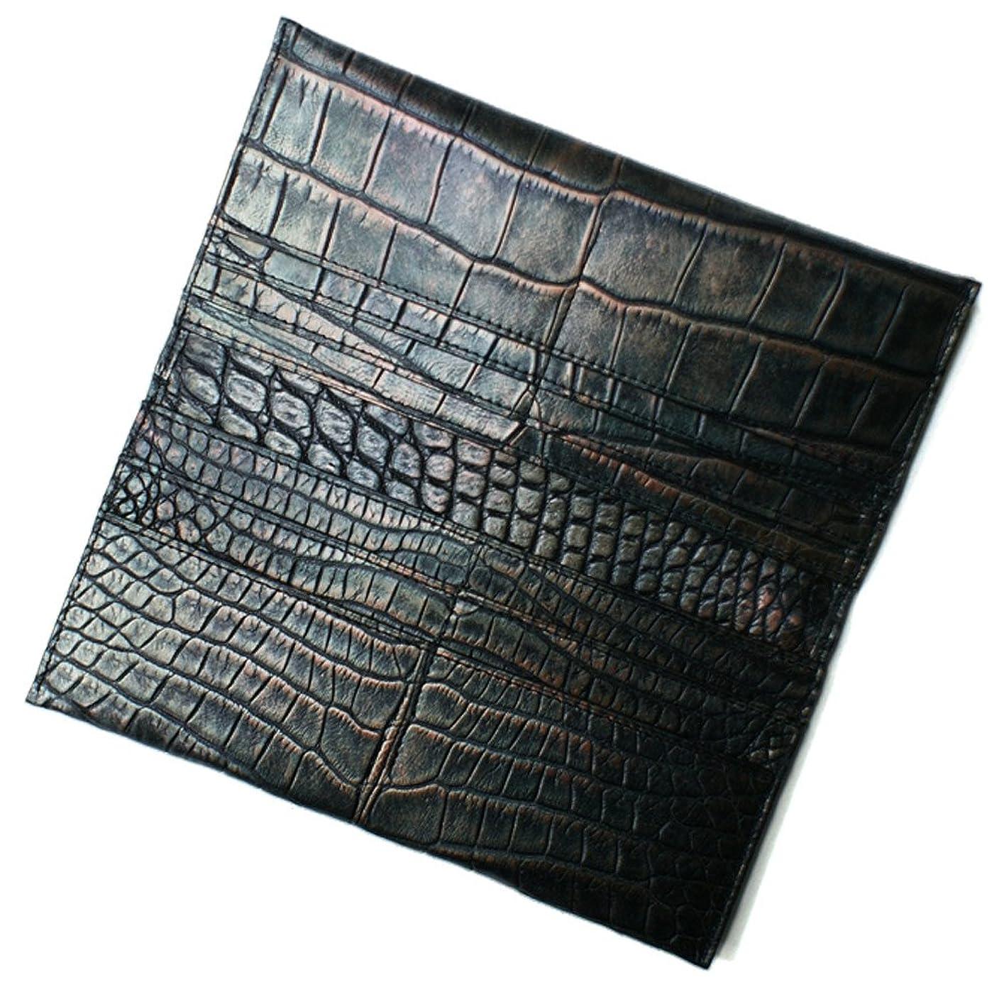 横契約したレーダーCRLG1077-RETORO クロコダイル マチなし長財布「小銭入れ無し」:ラグジュアリーレトロ