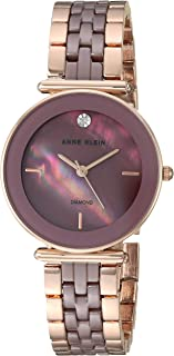 Anne Klein Women's Genuine Diamond Ceramic Bracelet Watch