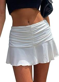 Mini skirts loose Amazon Com White Mini Skirt